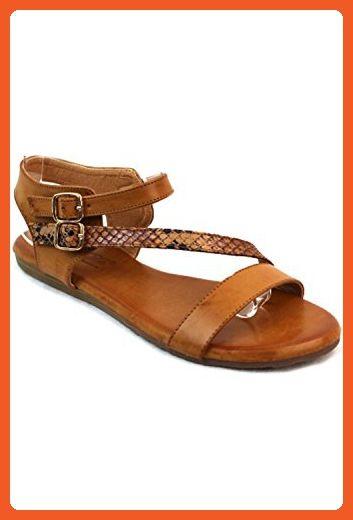 8aa393f368f0e0 Elegant Footwear Comfortable Simple Ankle Buckle Strap Flat Sandals Druti-1  (6) - Sandals for women ( Amazon Partner-Link)