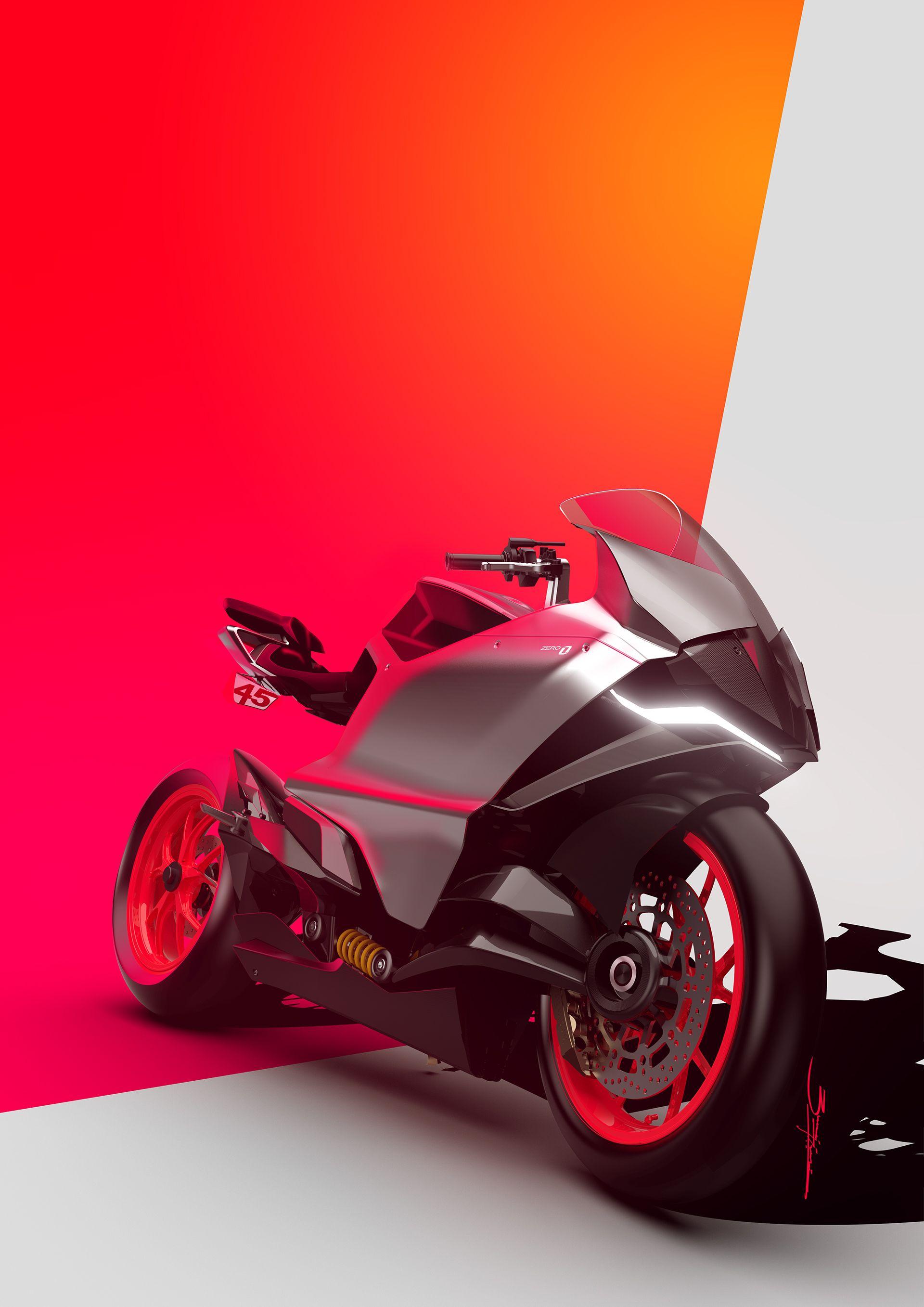 Ducati Zero Electric Superbike Titanium Renders On Behance With