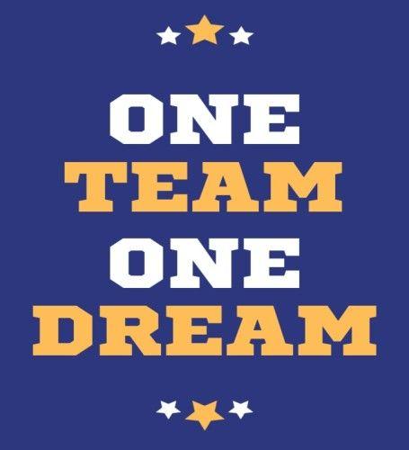 One team.one dream by Jonatan E | Team bulletin board. School teamwork. Team theme