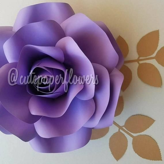 Pdf Paper Flower Template No 4 Paper Flower Diy Paper Flowers