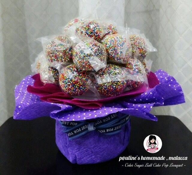 Choc Brownie Cake Pop Bouquet #cakepopbouquet