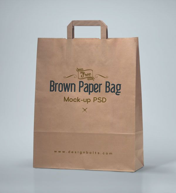 Download Free High Quality Brown Shopping Bag Packaging Mock Up Psd File Bag Mockup Mockup Free Psd Brown Paper Bag