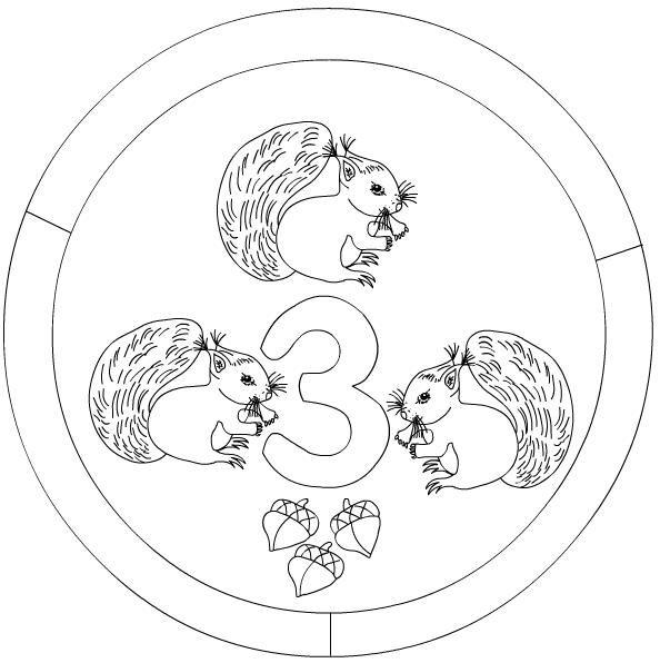 number 3 mandala coloring matemtica Pinterest Mandala