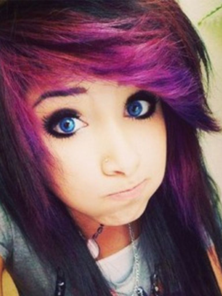 emo/ scene hair style!! and i love the color! | hairstyles