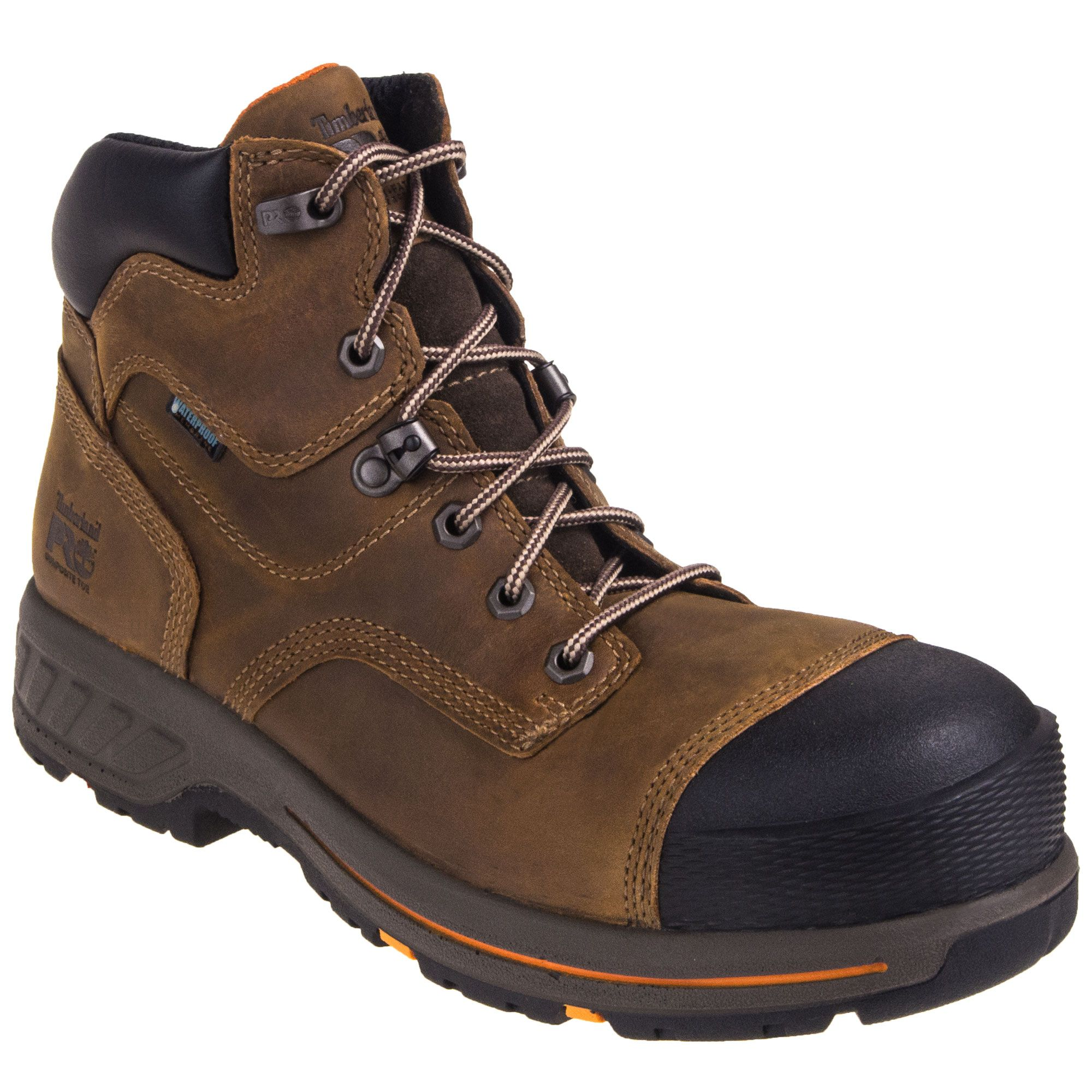 Timberland Pro Boots Men's Helix HD 6-Inch TB0A1HQL 214 Brown Composite Toe  EH Work