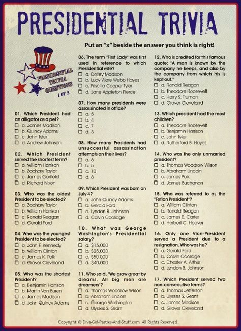 Presidential Trivia - An American Presidents Quiz #presidents