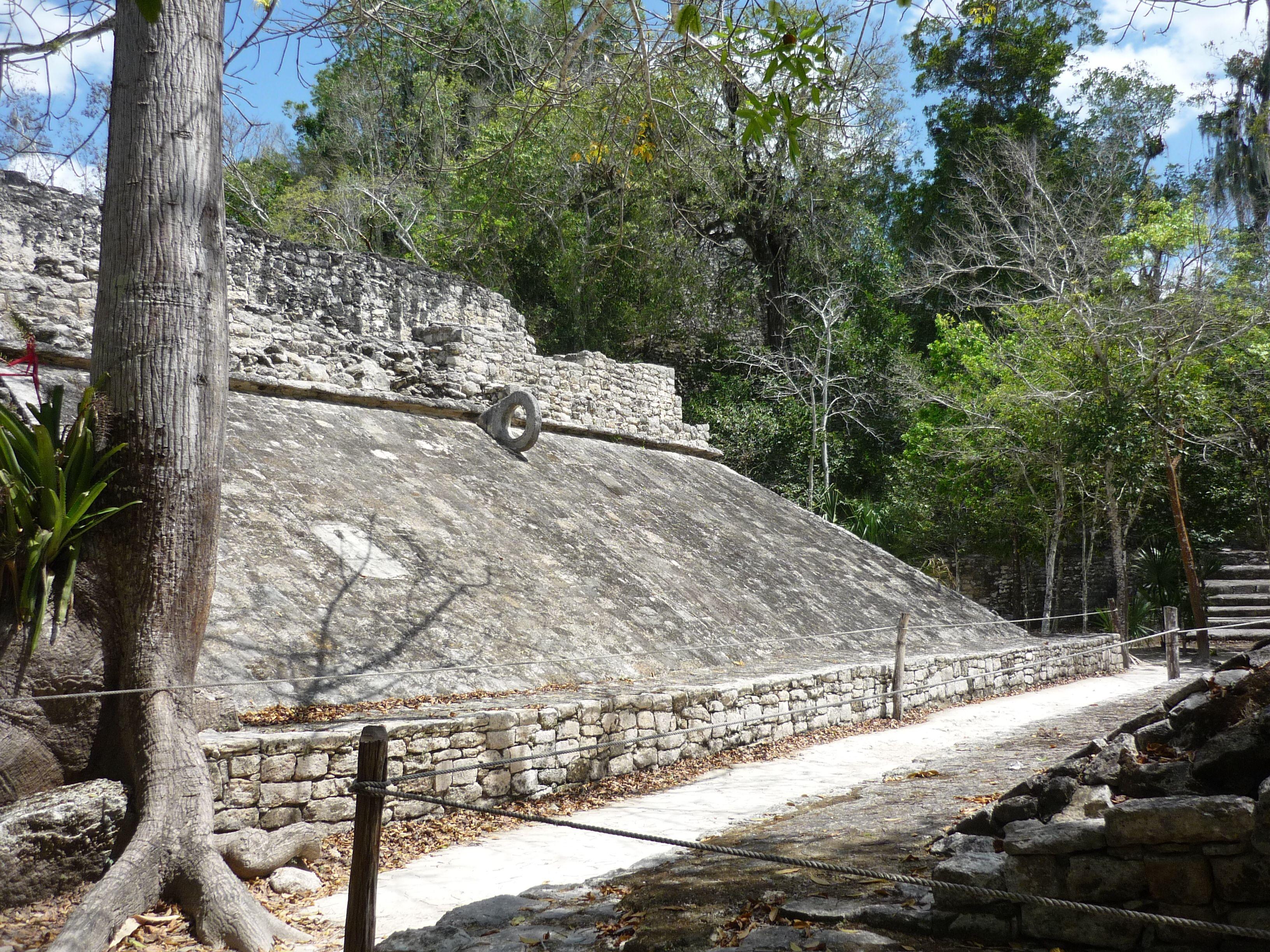 Mayan Game: Pok Ta Pok. Coba, Mexico. Looks like the Road to El Dorado - I'll take it