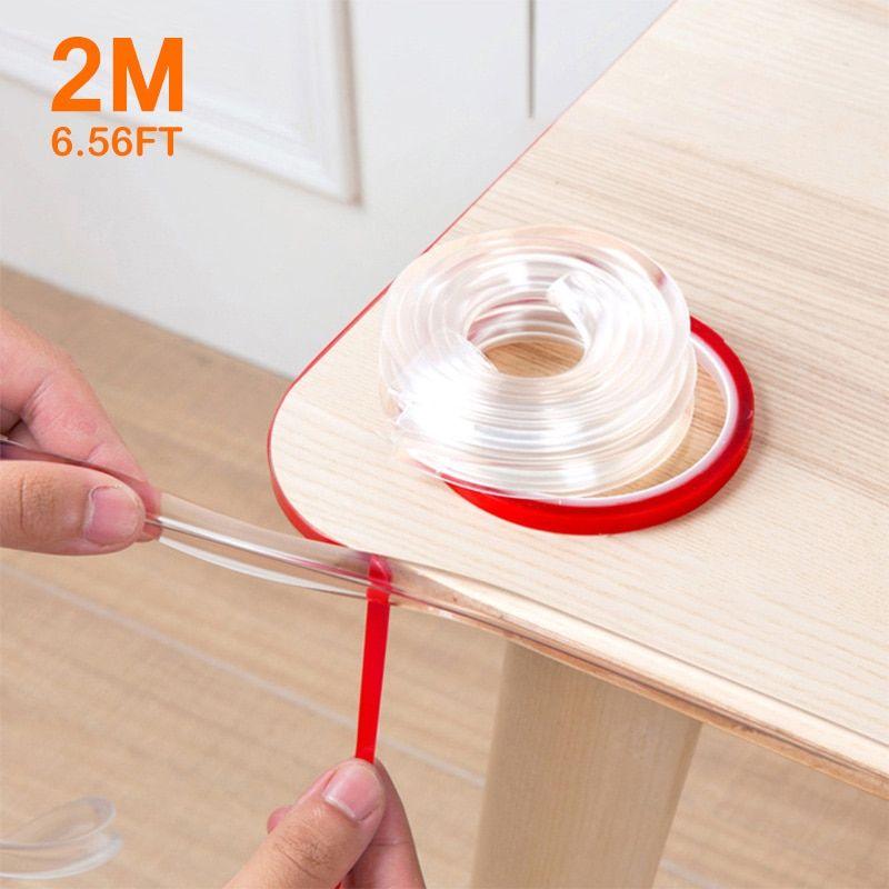 2m Baby Safety Table Desk Edge Corner Cushion Guard Strip Softener Bumper DE