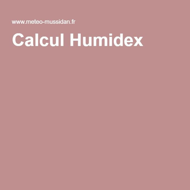 Calcul Humidex