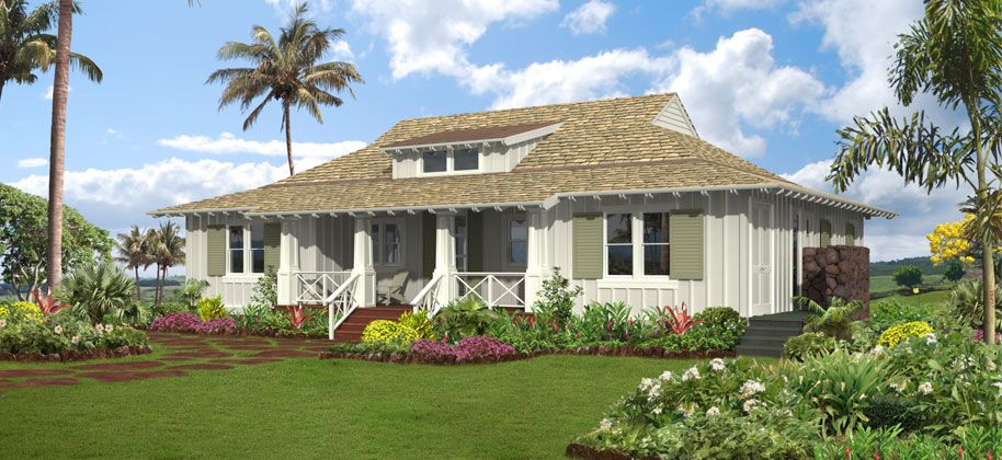 Tropical plantation style house plans for Hawaiian house plans