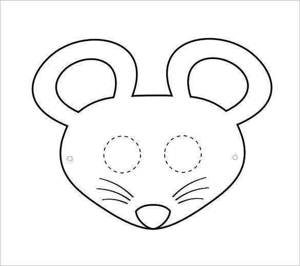 Мышка мордочка картинка черно белая
