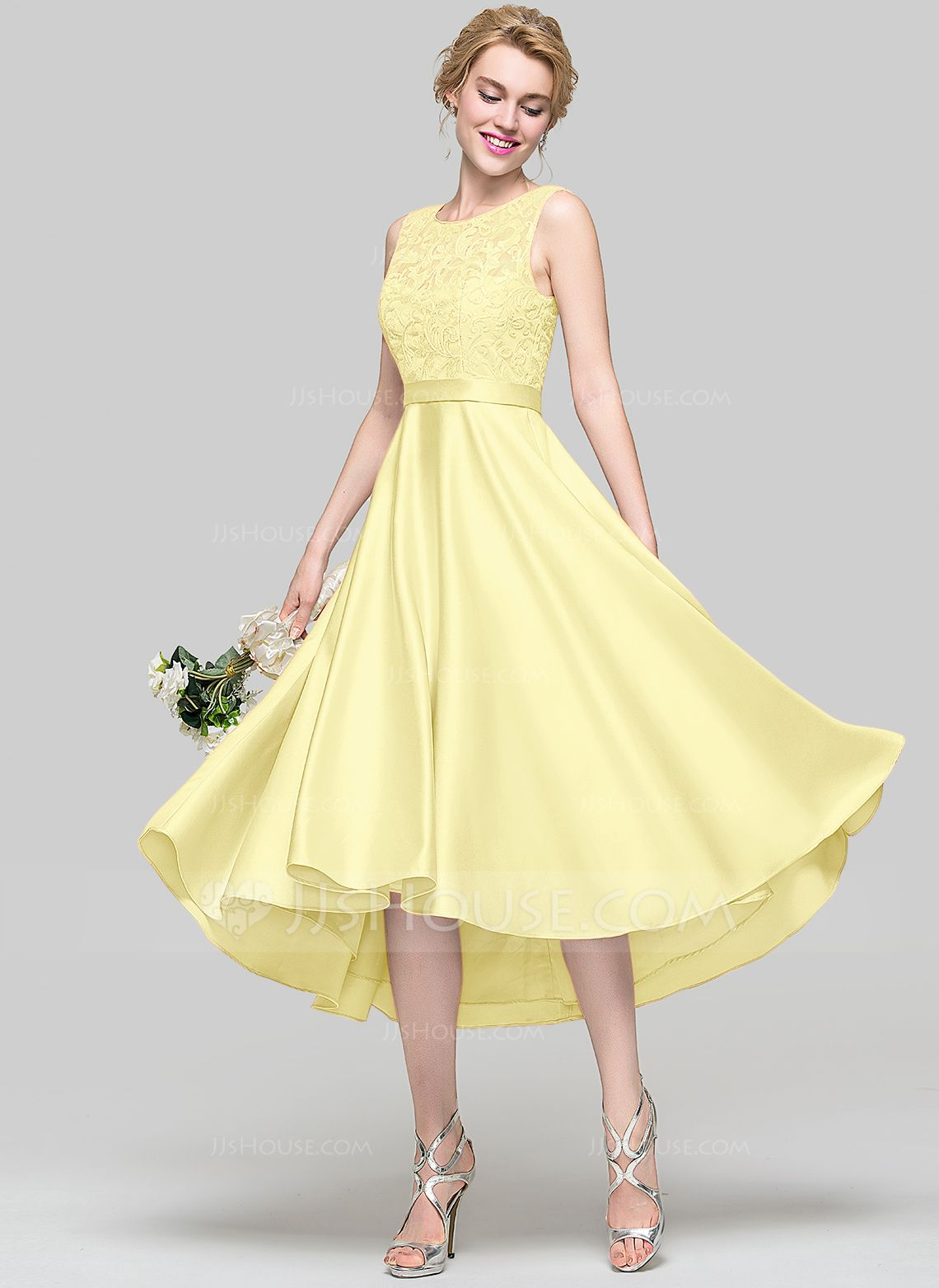 Dress for wedding party for girl  Possible Bridesmaid Dress Daffodil ALinePrincess Scoop Neck