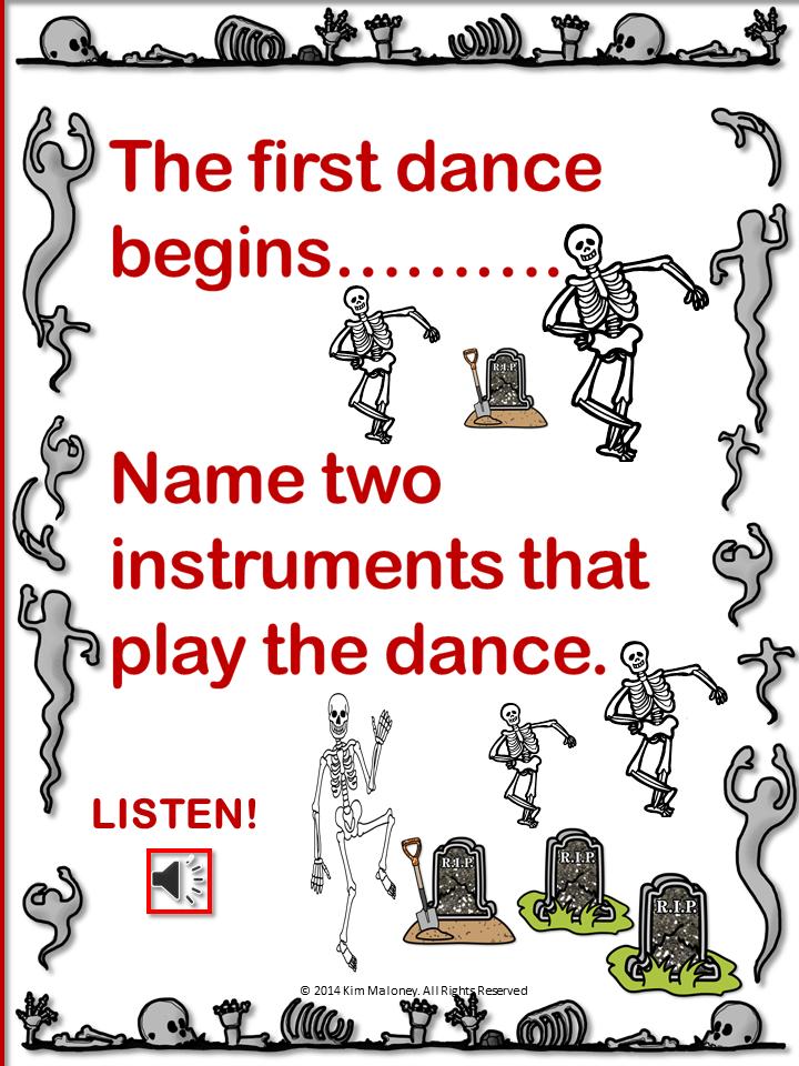 Danse Macabre! Listening activities for your music classroom at Halloween!