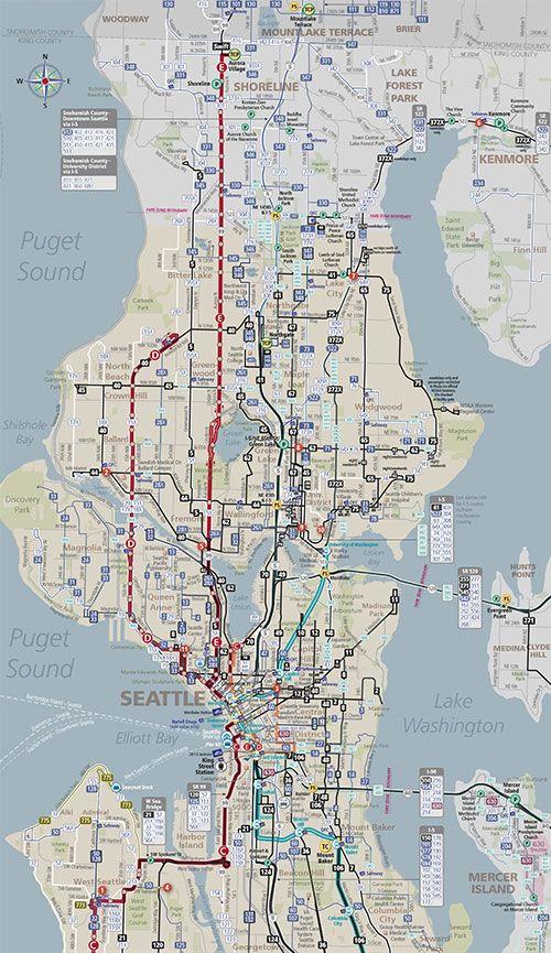 System Map Northwest Area Seattle Pinterest Seattle