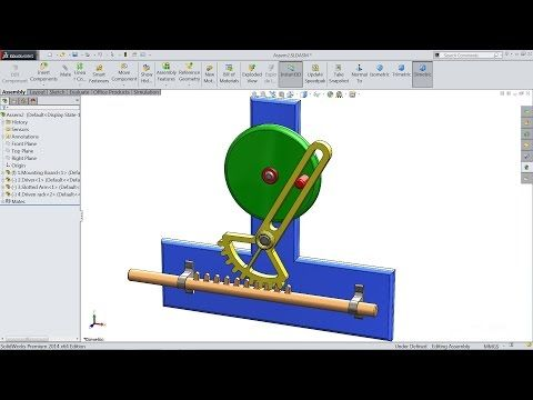 Solidworks Tutorial Study Of Reciprocating Motion Animation In Solidworks Youtube Solidworks Tutorial Solidworks Motion