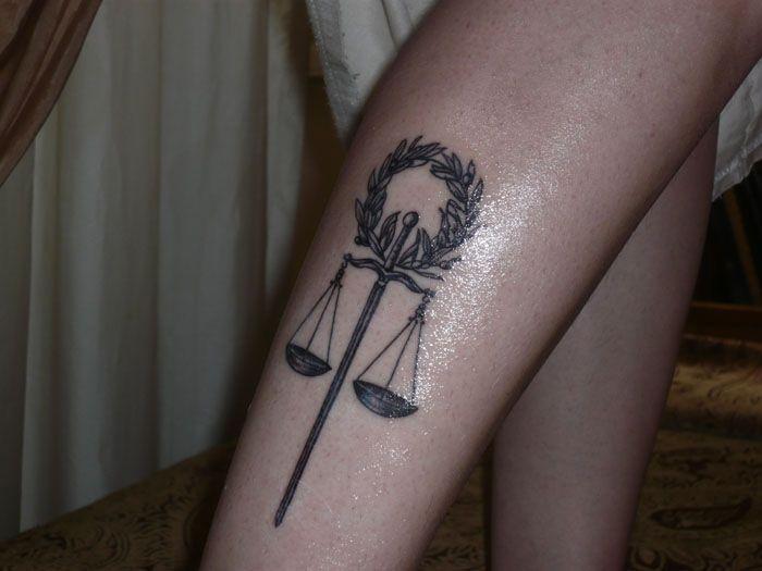 Pin By Arturs Markevics On Tattoos Designs Justice Tattoo Tattoos Leg Tattoos