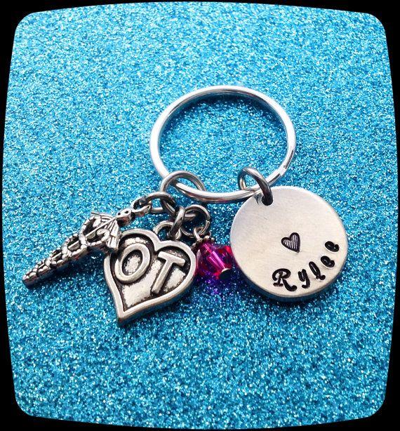 Occupational Therapist Jewelry OT Keychain by ThatKindaGirl
