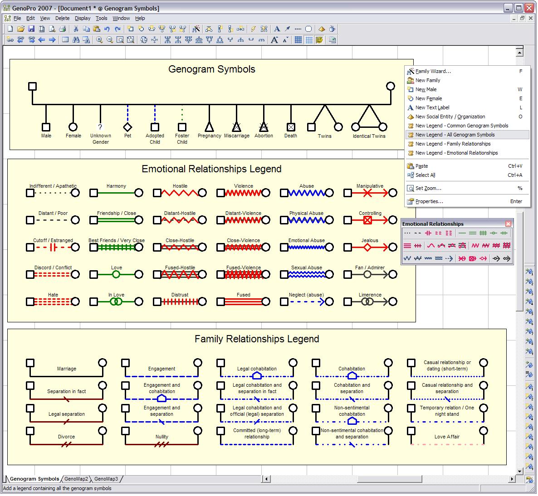 3 Generation Family Genogram   To start, view this sample map ...