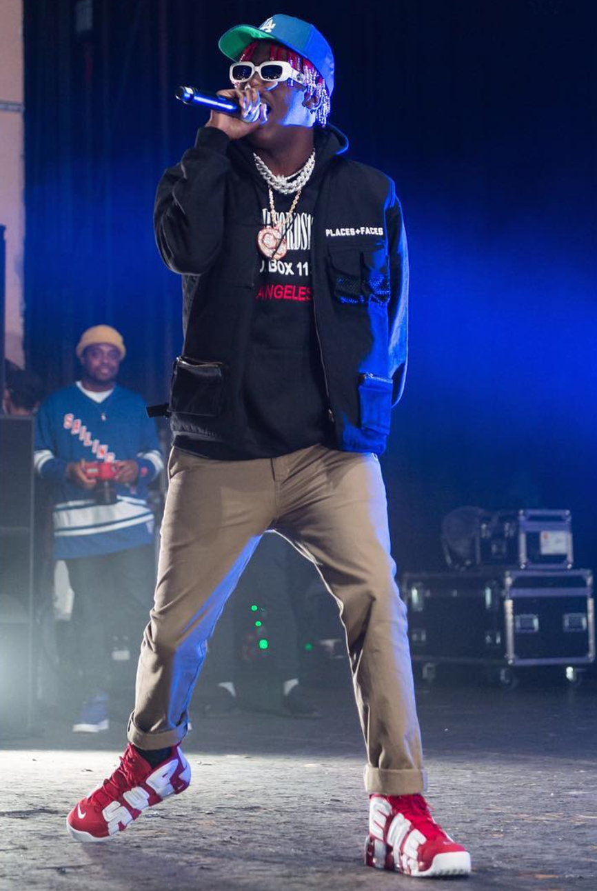 f03cb55eec0 Lil Yachty in the Supreme x Nike Air More Uptempo | style in 2019 ...