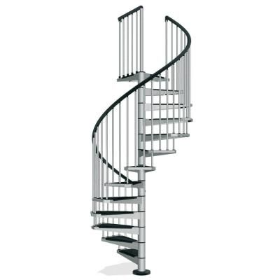 Best Arke Civik 55 In Grey Spiral Staircase Kit Spiral 400 x 300