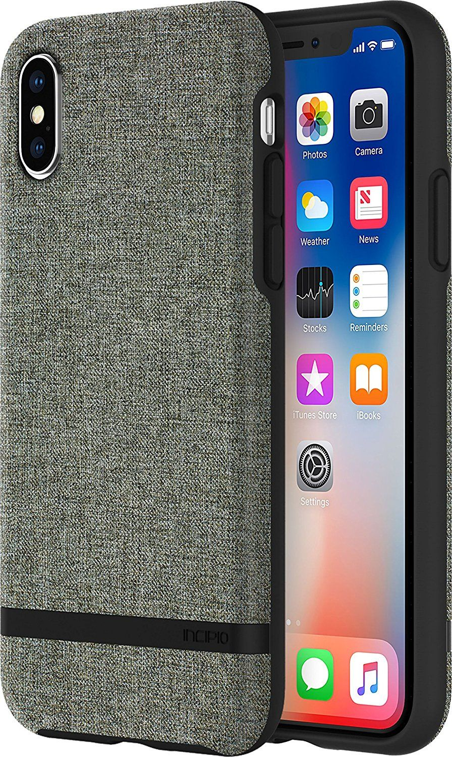 b451632d376 Incipio Carnaby iPhone X Case  Esquire Series  with Co-Molded Design and  Ultra-Soft Cotton Finish for iPhone X - Forest Gray