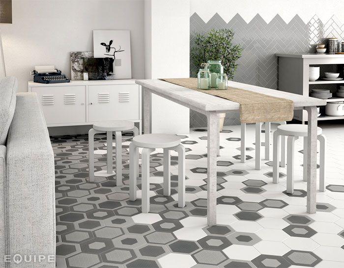 Hexagonal Floor Tiles By Equipe Ceramica Hexatile Collection Wall Floor Porcelain Tile Kitchen
