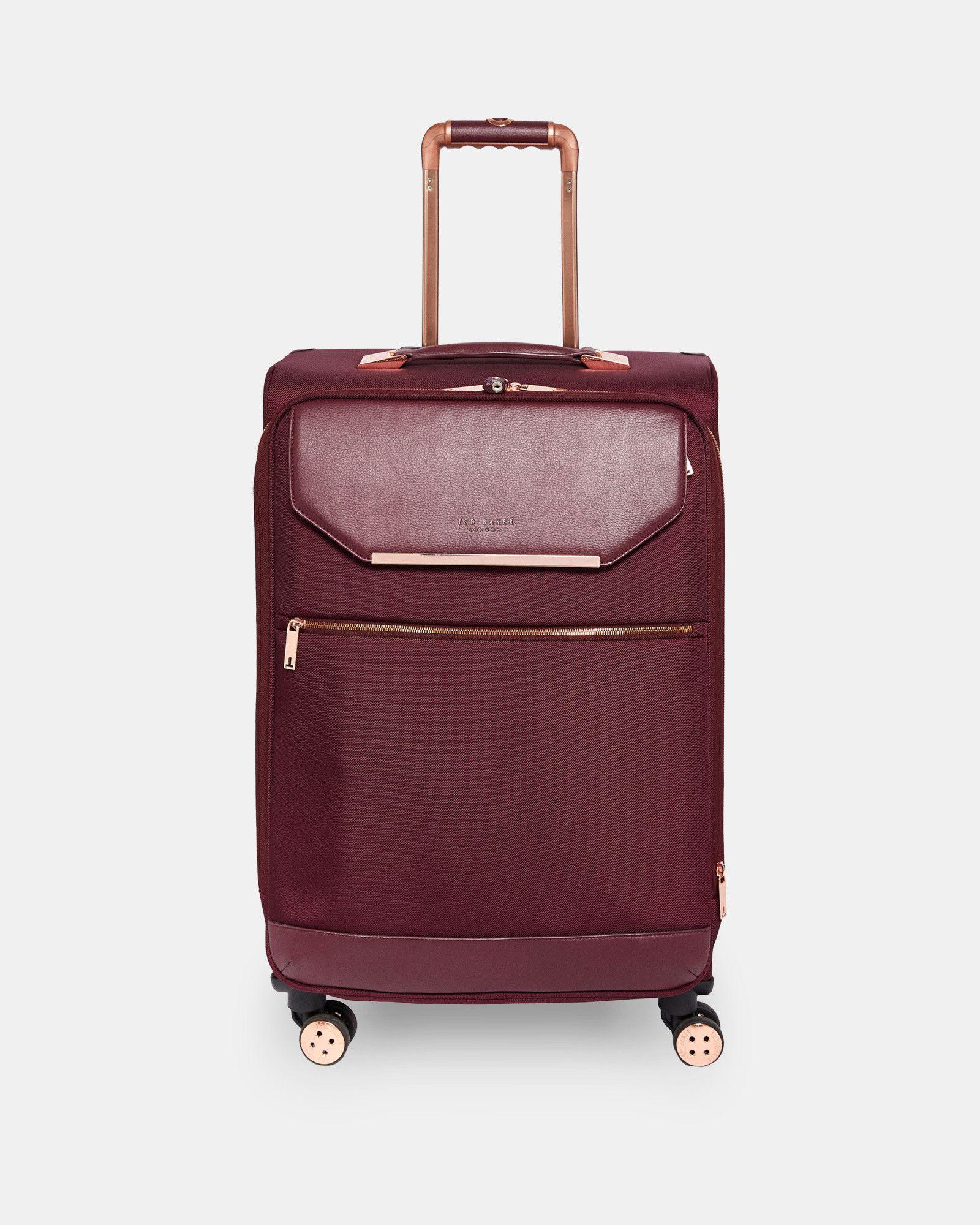 628cb74a3 LUGGOL Metallic trim medium suitcase  TedToToe