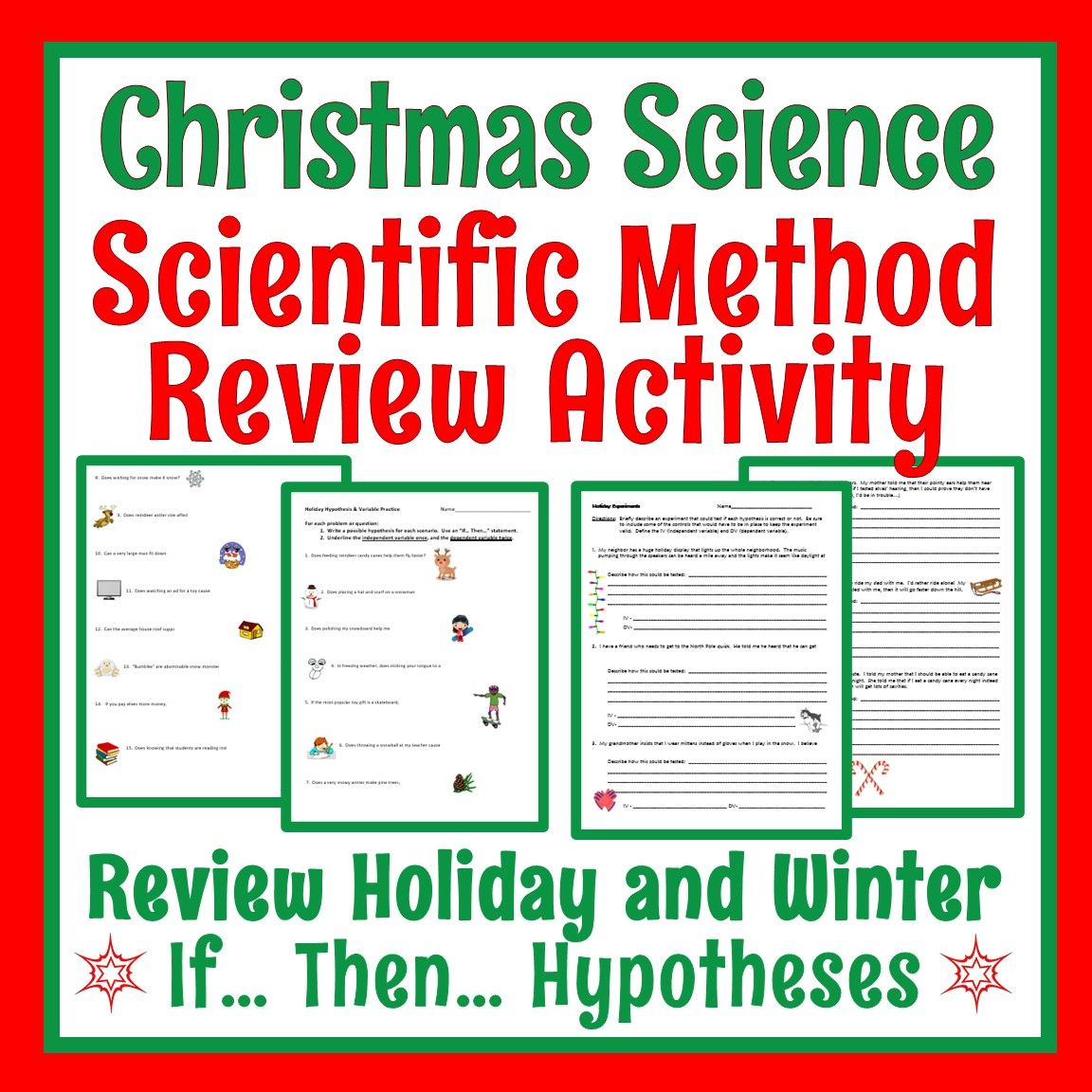 Middle School Christmas Science Activity Science Worksheets Christmas Science Christmas Science Activities