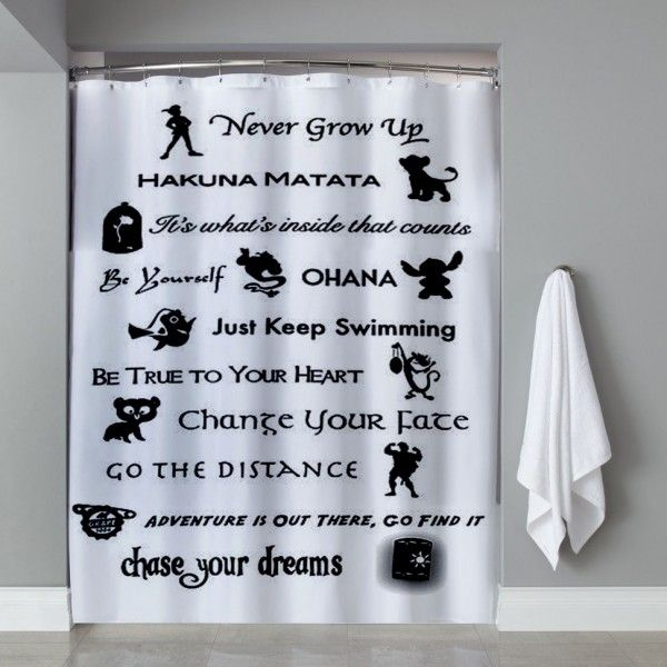 Disney Lessons Learned Mash Up Shower Curtain