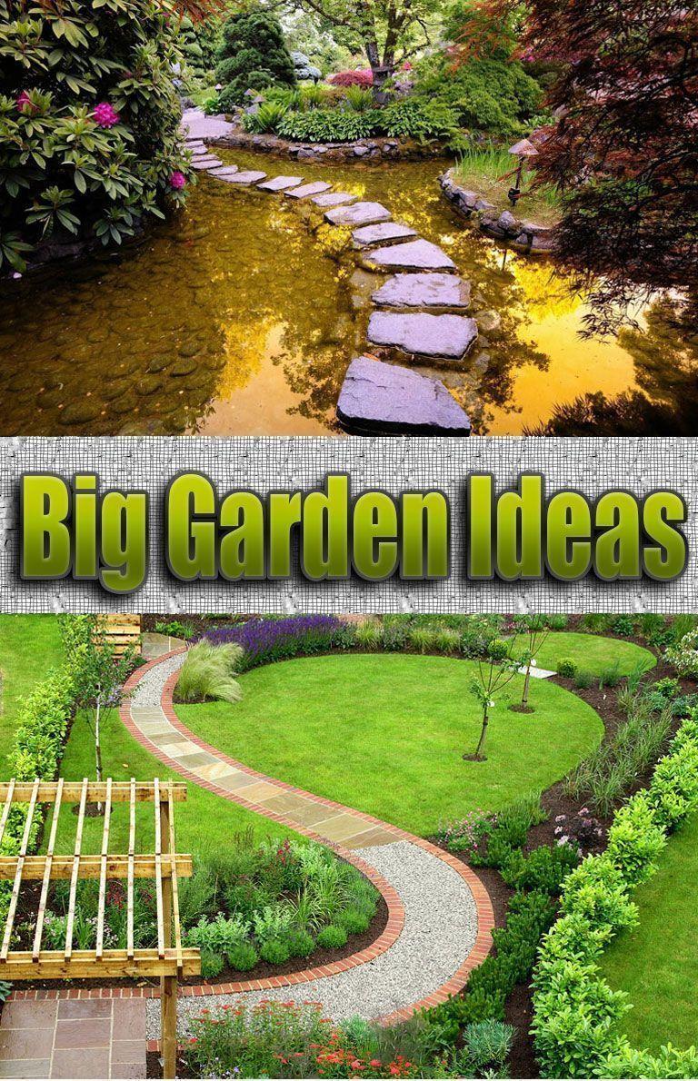 Big Garden Ideas Large Backyard Landscaping Big Garden Dream Backyard Garden