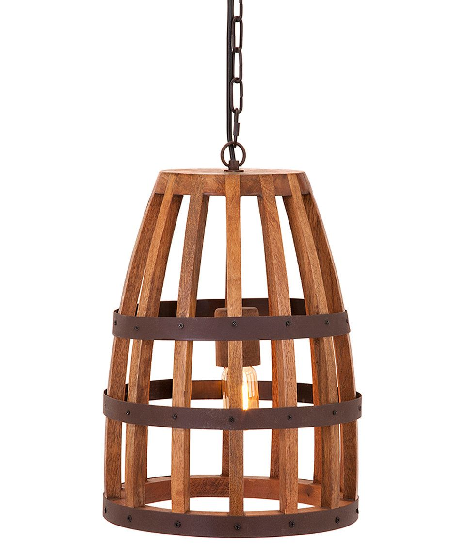 Look what i found on zulily foley wood cage pendant light by imax