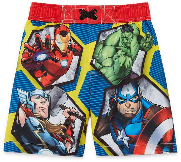 113f993894407 LICENSED PROPERTIES Avengers Swim Trunks - Toddler Boys | Products ...