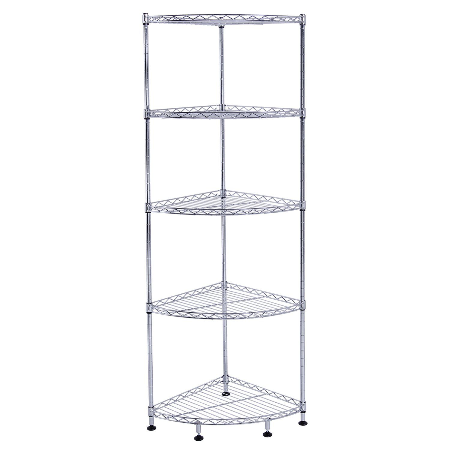 Lifewit Wire Corner Shelf 5 Tiers DIY Height ADjustable Shelving Unit