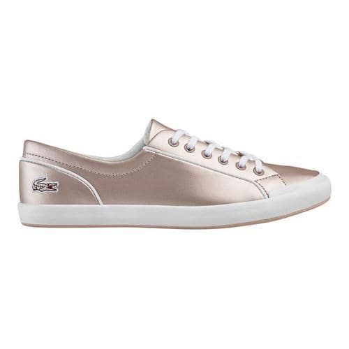 641286503173 Women s Lacoste Lancelle 6 Eye Sneaker Light Pink Synthetic