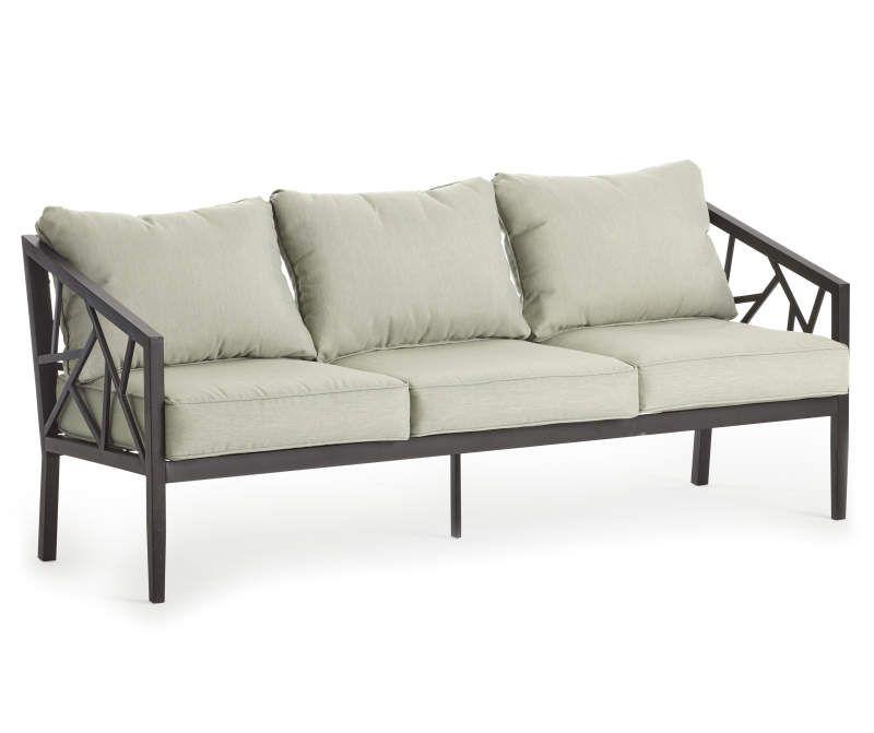 Real Living Verrado Black Cushioned Patio Sofa - Big Lots ... on Wilson & Fisher Verrado Black Cushioned Patio Sofa id=42471
