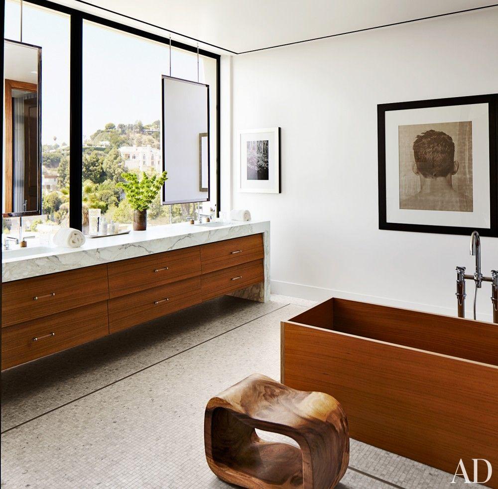 Bathroom By Dan Fink And Tim Murphy In Los Angeles, CA Window Vanity,  Floating