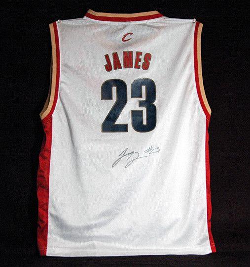 innovative design 757fd 7a276 2011-12 NBA Champion LeBron James Autograph Signed Cleveland ...