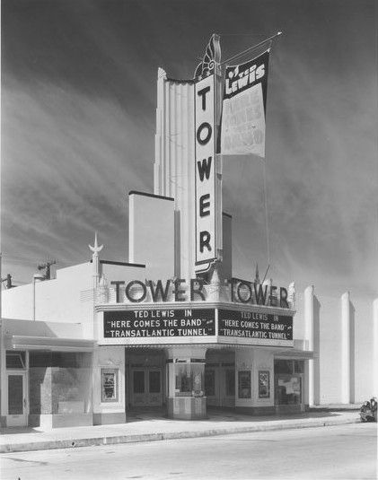 Fox Tower Theater Exterior In Compton Calif Compton California Compton Classic Movie Theaters