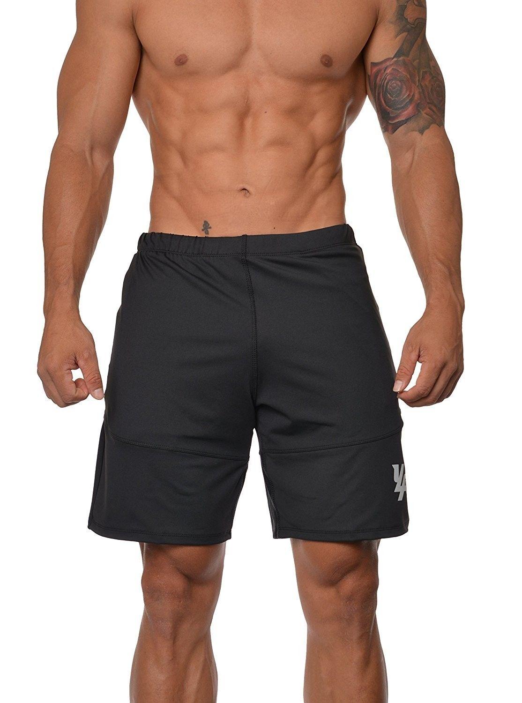 Mens Workout Shorts Casual Gym Athletic Activewear Bodybuilding W Zipper Pockets 111 Black Ca12nzmjeap Mens Workout Shorts Gym Outfit Men Bodybuilding Shorts [ 1500 x 1114 Pixel ]