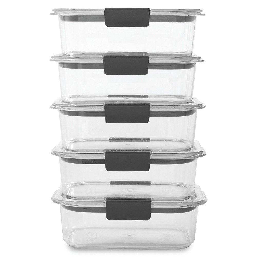 Rubbermaid Brilliance 5pk 3 2 Cup Airtight Food Storage Container