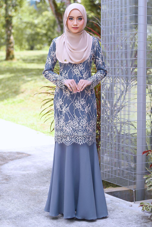 LEDANG KURUNG In Dusty Blue  Wanita, Model baju wanita, Model