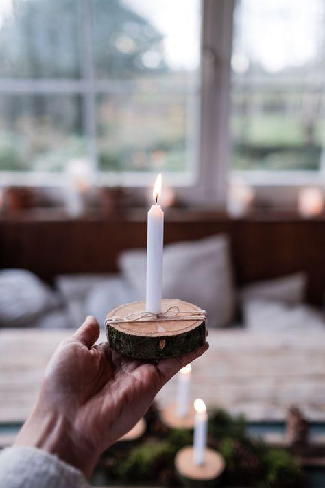Kerzenbrett - schnelles DIY ohne bohren - Osmers Garten