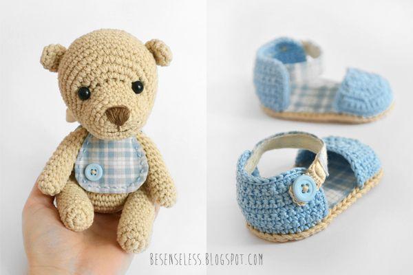 Amigurumi teddy baby bear and crochet sandals | Bb Crochet ...