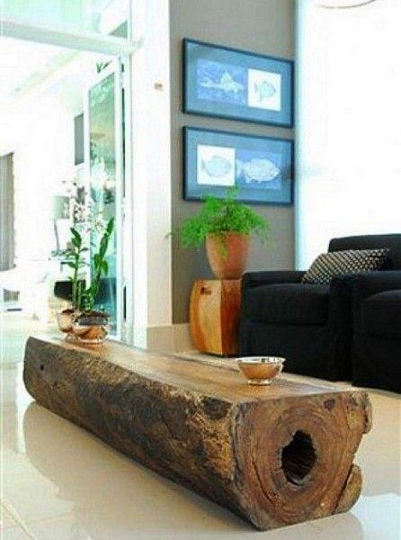 tocones de madera para decorar hogar (9) | Cosas que me gustan ...