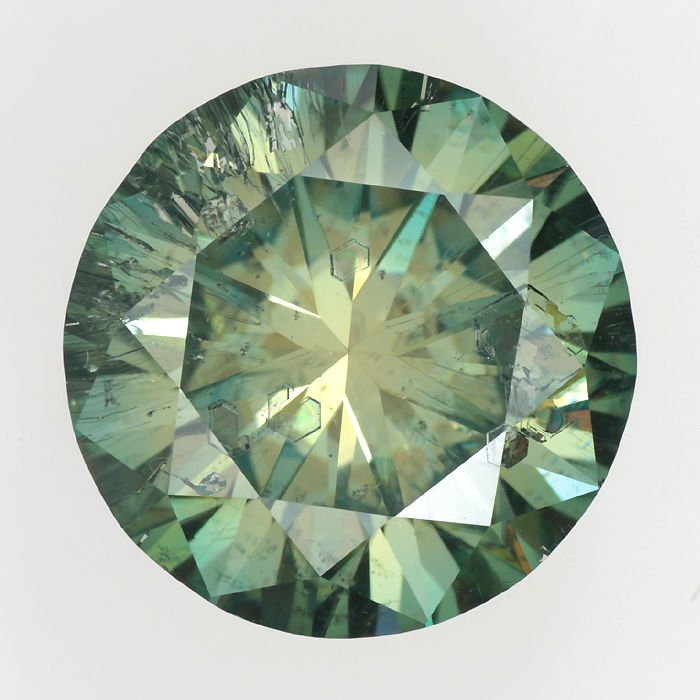 MOISSANITE LOOSE I2 CLARITY 4.63 CT COLORED ROUND CUT FASHION JEWELRY GEMSTONE #Unbranded