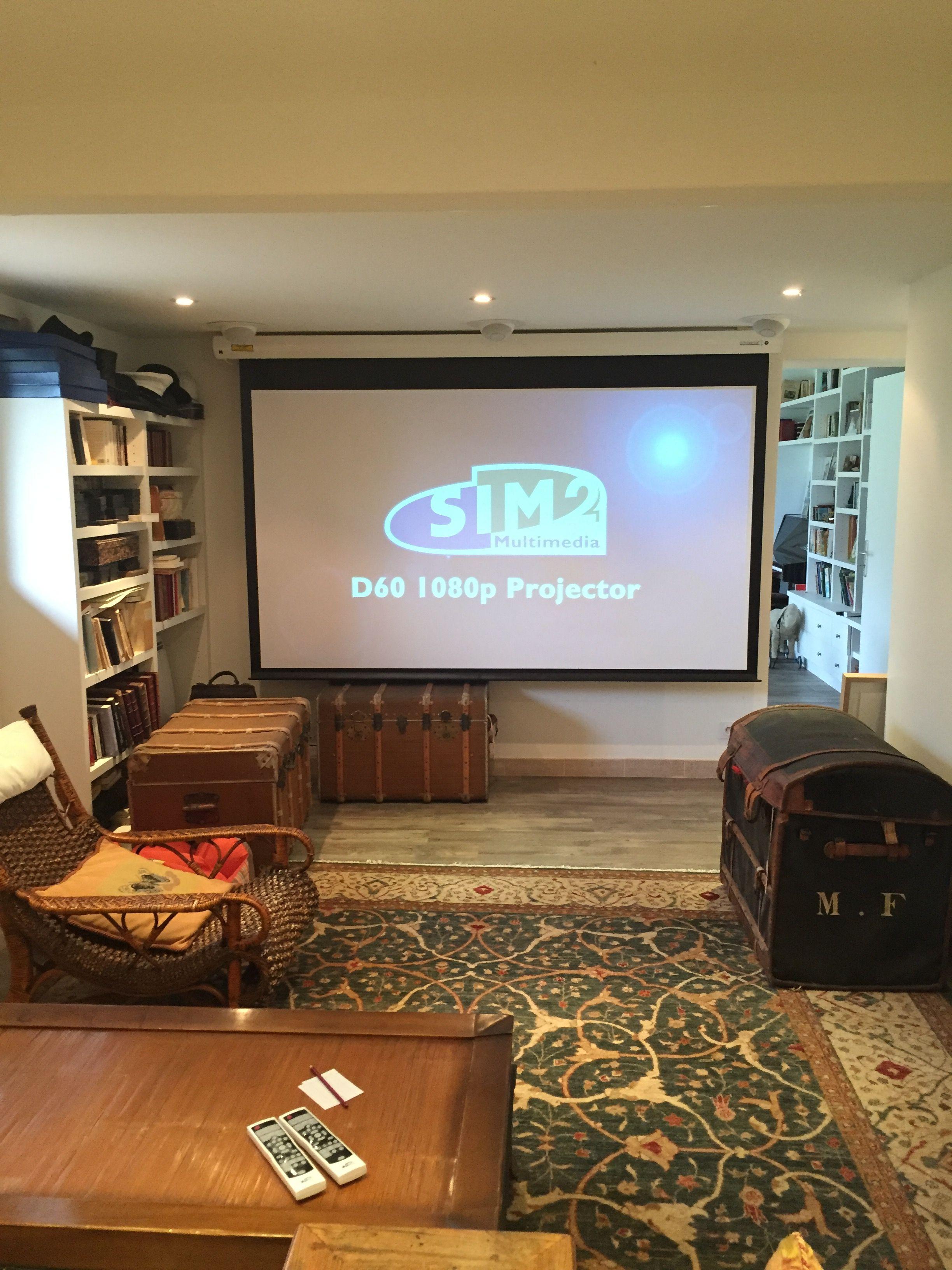 Salon de cinéma privée 5.1ch, enceinte encastrable Cabasse Io, ampli et Dvd  Denon 6d483508501f