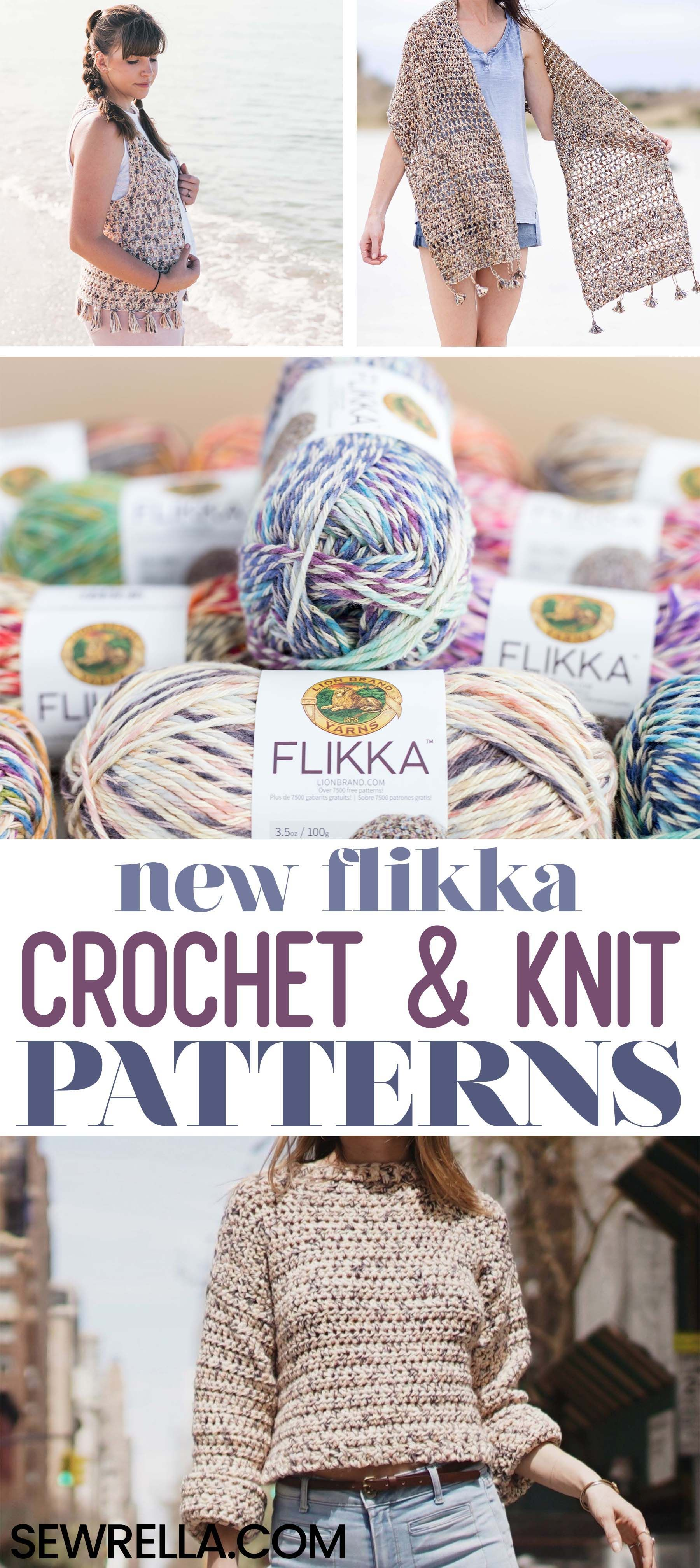 10+ Lion Brand Flikka Crochet & Knit Patterns | CrochetHolic ...