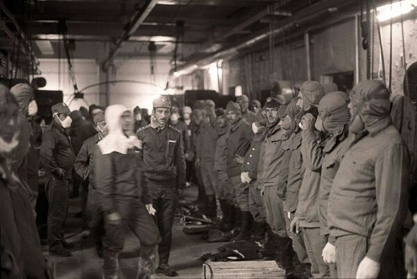 Brave men ready to do Battle against reactor #4 after the explosion. Not knowing about the Radation risk. Most of those in this photo would not survive the fight. God rest their souls and Thank you.