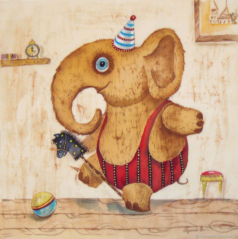смешные рисунки слона руку твою очень