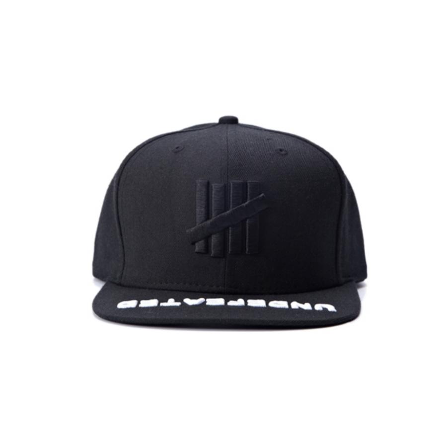 9977d439 Undefeated 5 Strike Embroidered Brim Snapback Hat (Black)http://hatstash.